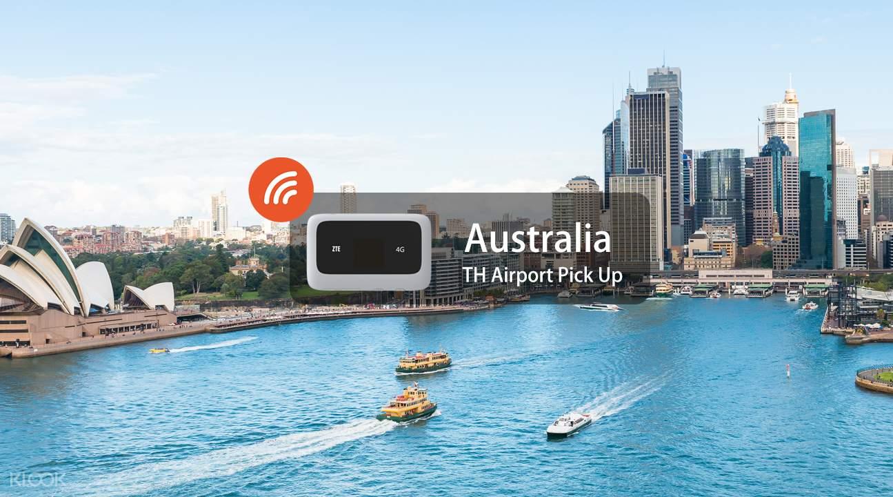 Portable wifi Australia thailand airport